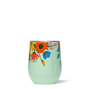 Lively Floral Mint - 12oz Stemless