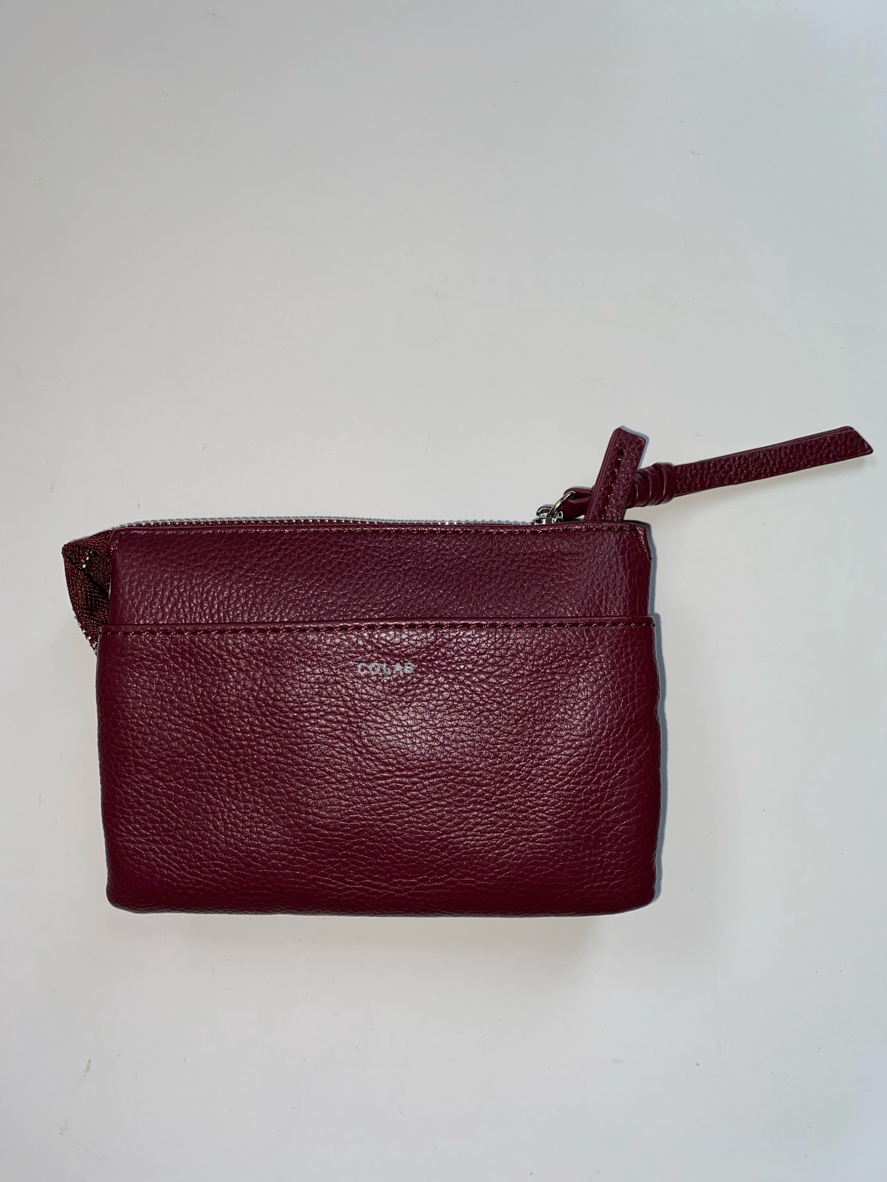 Small Pebble Wallet-Wine
