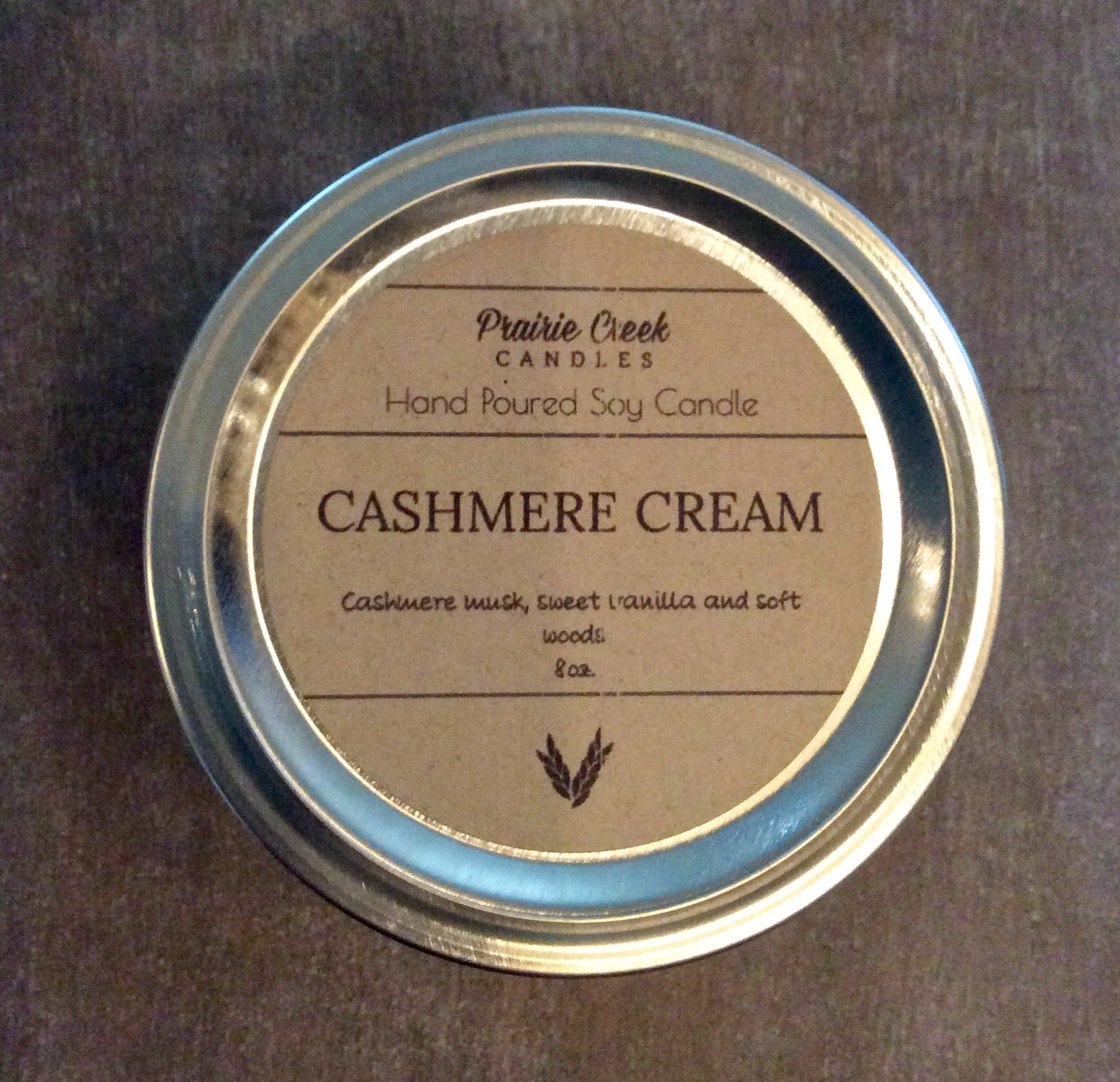 Prairie Creek Candles - Cashmere Cream