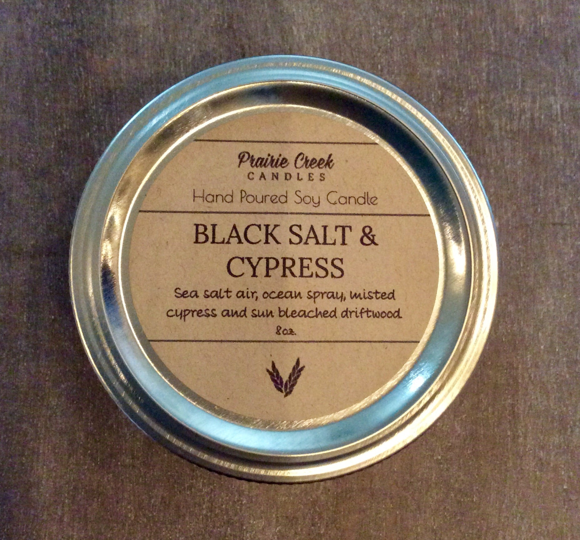 Prairie Creek Candles - Black Salt & Cypress