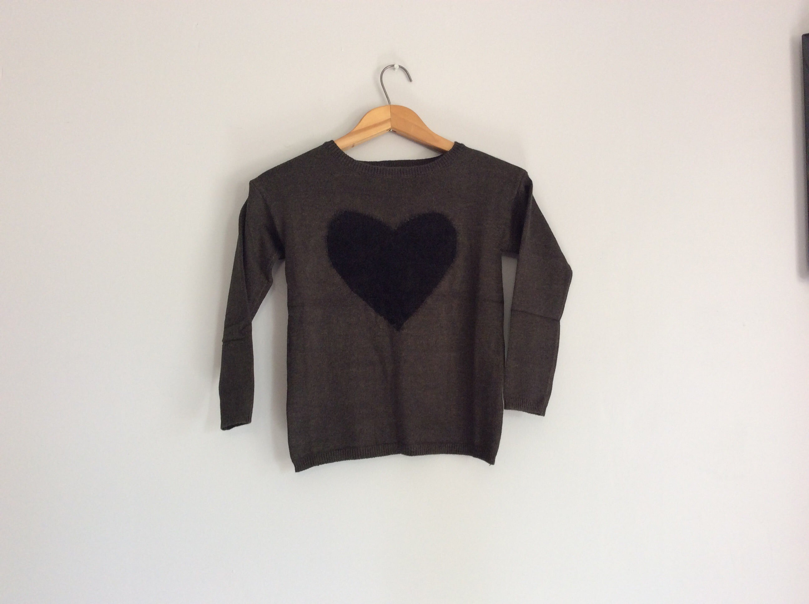 Girls Knitted Sweater With Heart