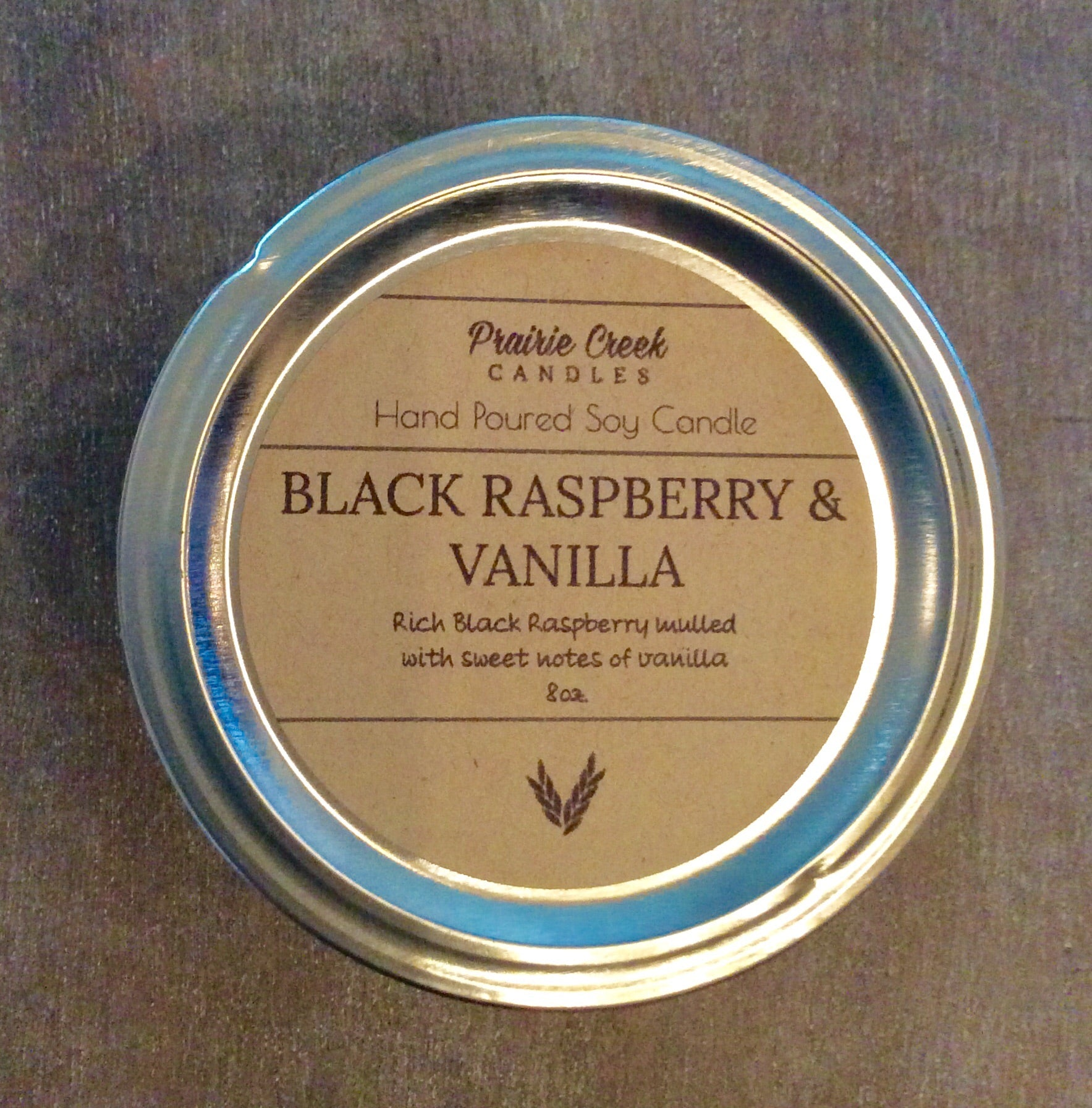 Prairie Creek Candles - Black Raspberry & Vanilla