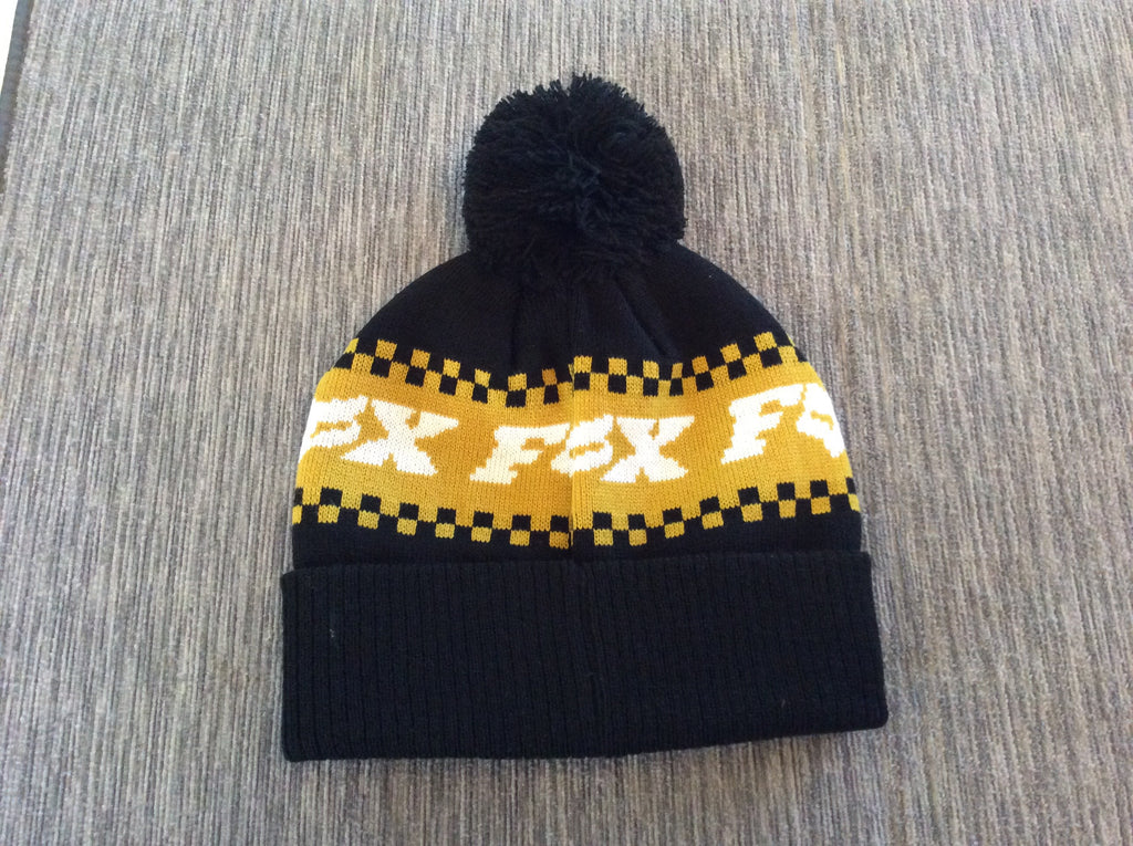 Fox Black And Yellow Beanie