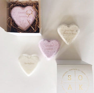 Heart shaped bath bond trio