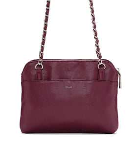 QUILTED BASIC CROSSBODY - WINE