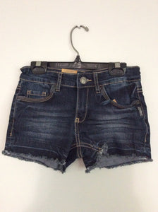 Dark Wash Lacy Short Shorts