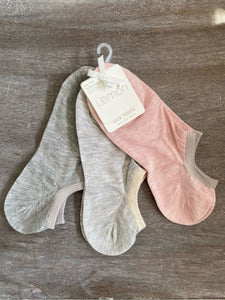3 Pack Silk Touch Low Cut Socks