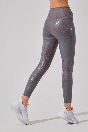 Strive High Waisted 7/8 Legging - Silver Pearl