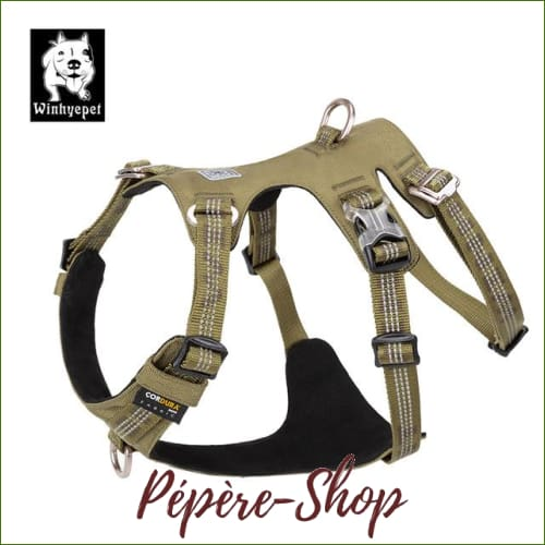 Harnais tactique TRUELOVE pour chien de chasse double H - Green dog harness / XL 81-107cm chest-PEPERE SHOP