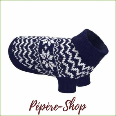 Pull pour chat col roulé, chaud et confortable - Blue / L-PEPERE SHOP