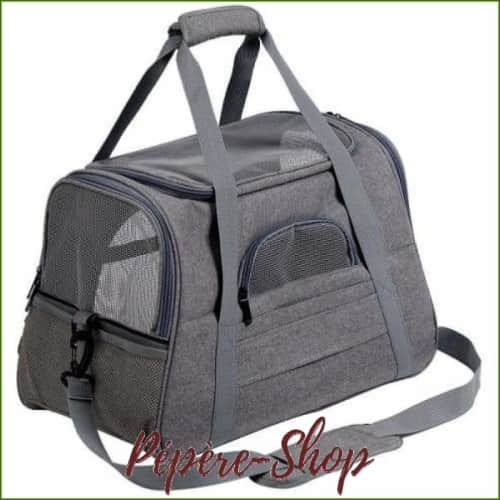 Sac de transport chien pour avion - homologué cabine - à bandoulière - Light Grey / 44.5x25x28cm-PEPERE SHOP