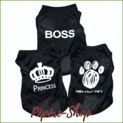 Sweat shirt pour chien - imprimé design BOSS et PRINCESS - -PEPERE SHOP