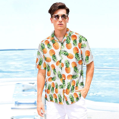 chemise ananas blanche design