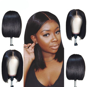 "Straight Bob Lace Front Wig ""100% Human Hair"""