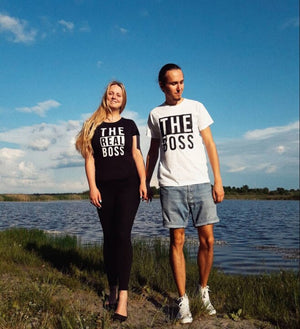 """Boss"" Couple Tshirts"