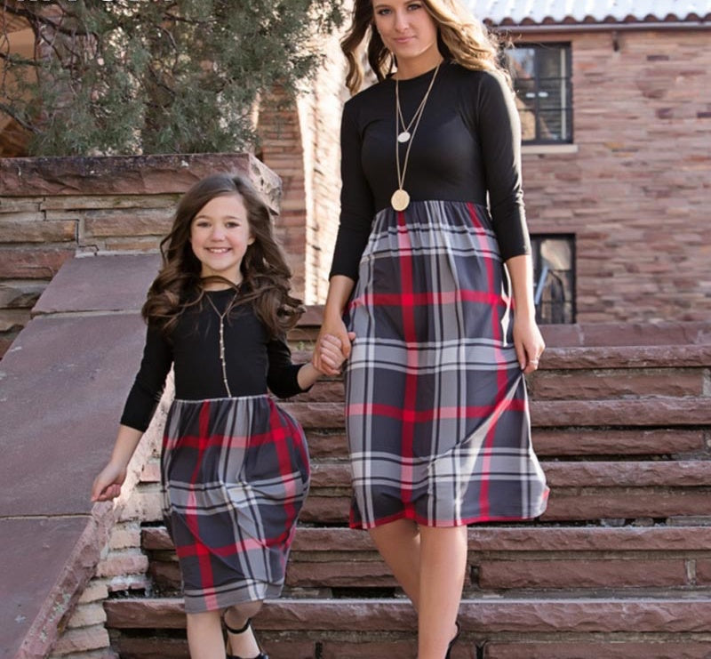Mother & Daughter Plaid Dress