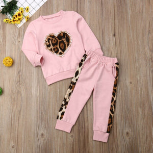 Leopard Heart Girl's Set