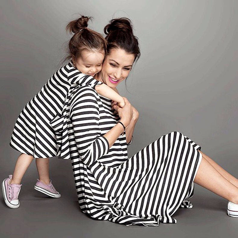 Mother & Daughter Striped Dress