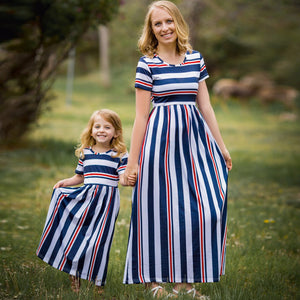 Mother & Daughter Blue St Dress