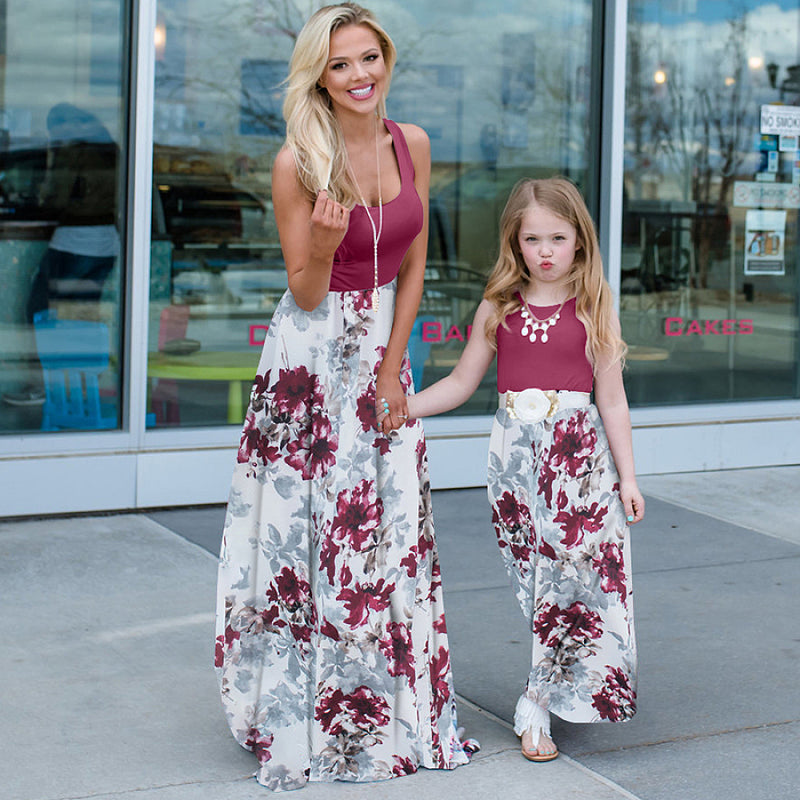 Mother & Daughter Flower Dresses