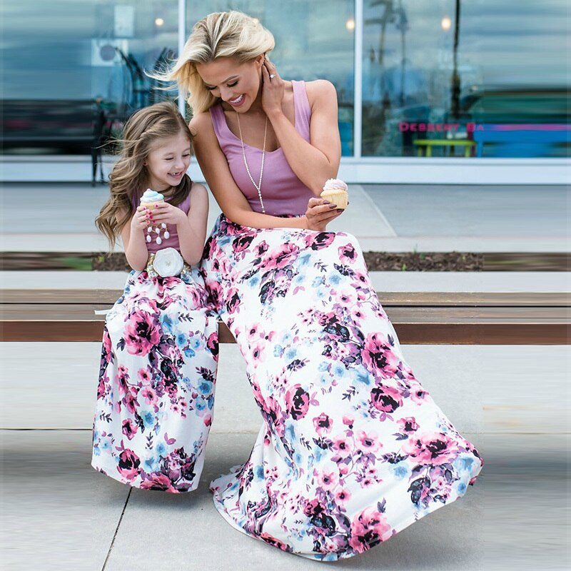 Mother & Daughter Purple Sky Dress