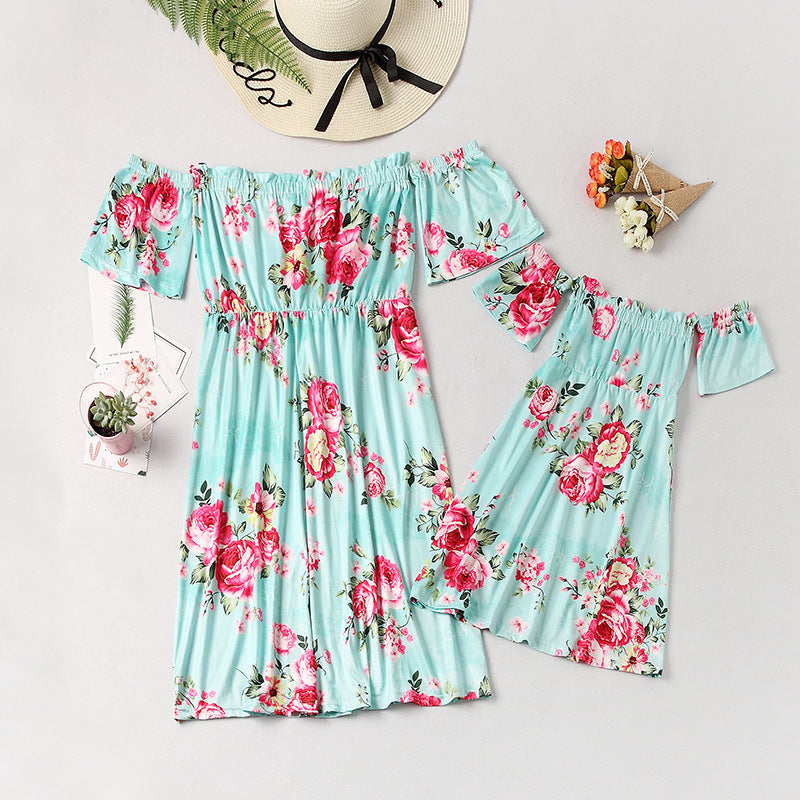 Mother & Daughter Blue Sky Dress