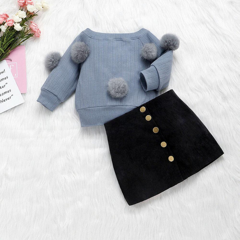 Casual Girl's Puff Set