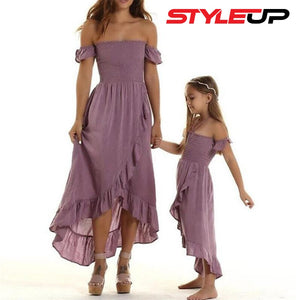 Mother & Daughter Ruffles Dress