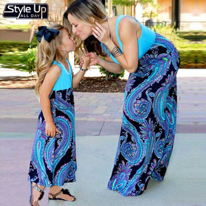 Mother & Daughter Sky Dress