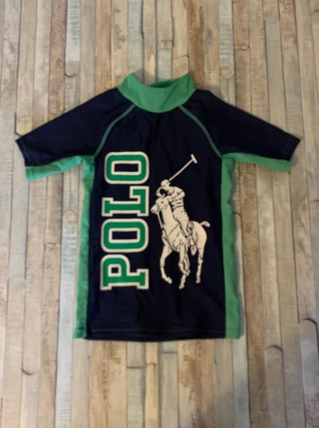 Polo Ralph Lauren Rash Guard Swim Shirt Age 5 - Nippers Preloved children's clothing