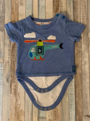 Ted Baker Helicopter Baby T-Shirt, Newborn - Nippers Preloved children's clothing