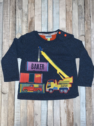 Ted Baker Crane Long Sleeve T Shirt 9-12 Months - Nippers Preloved children's clothing