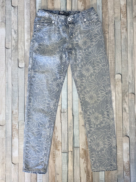 Levi's Flower Design Jeans Size 7 Reg - Nippers Preloved children's clothing
