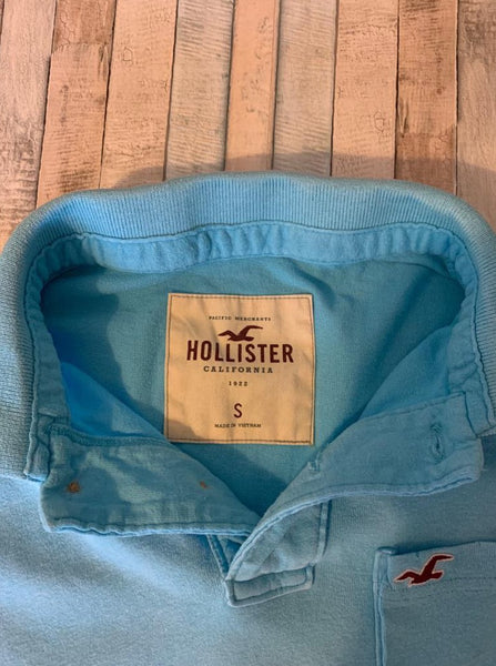 Hollister Blue Polo Shirt, Size Small - Nippers Preloved children's clothing