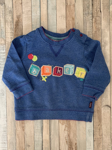 Ted Baker Blocks Sweatshirt 6-9 Months - Nippers Preloved children's clothing