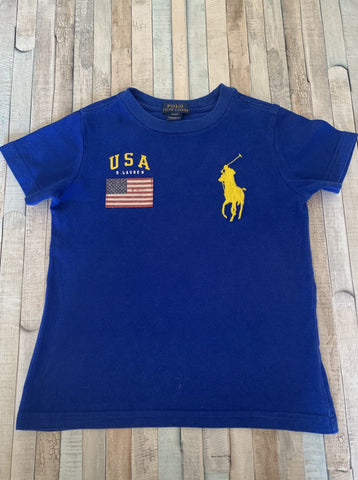 Polo Ralph Lauren Blue T-Shirt 4/4t - Nippers Preloved children's clothing
