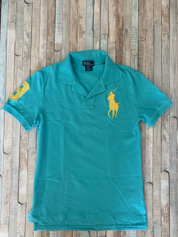 Polo Ralph Lauren Turquoise Polo M (10-12) - Nippers Preloved children's clothing