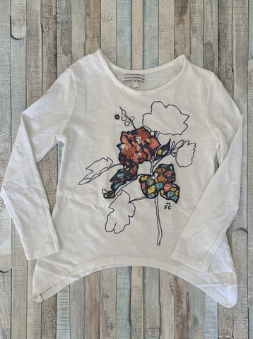 French Connection Embroidered Modern Floral Long Sleeve Top Age 5-6 - Nippers Preloved children's clothing