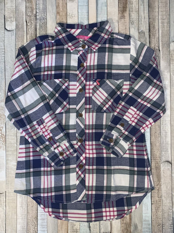 Joules Pink/Blue Check Shirt Age 5 - Nippers Preloved children's clothing