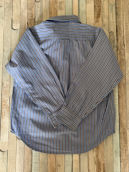 Polo Ralph Lauren Shirt Blue Stripes 5 years - Nippers Preloved children's clothing