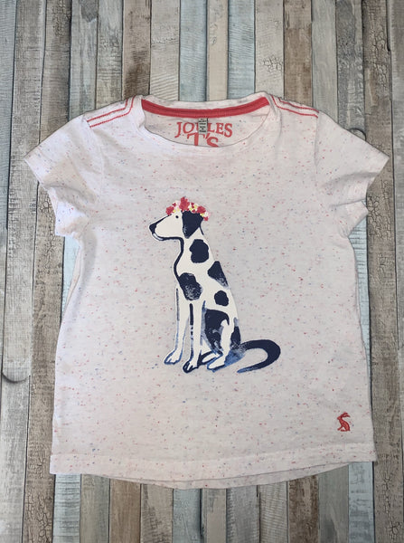 Joules Dalmation T Shirt Age 5Y - Nippers Preloved children's clothing