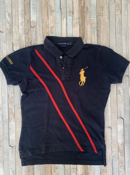 Ralph Lauren Golf Navy Polo M(10-12) - Nippers Preloved children's clothing