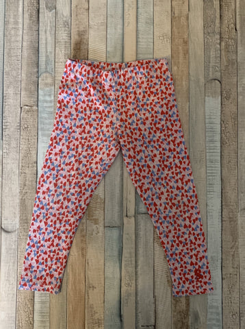 Joules Heart Leggings Pink Age 1 - Nippers Preloved children's clothing