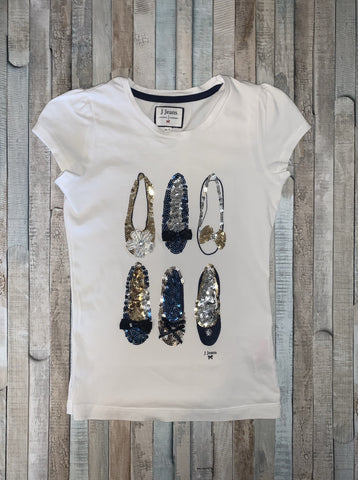 J Jeans by Jasper Conran Sequin Ballet Top Age 6-7 Years - Nippers Preloved children's clothing