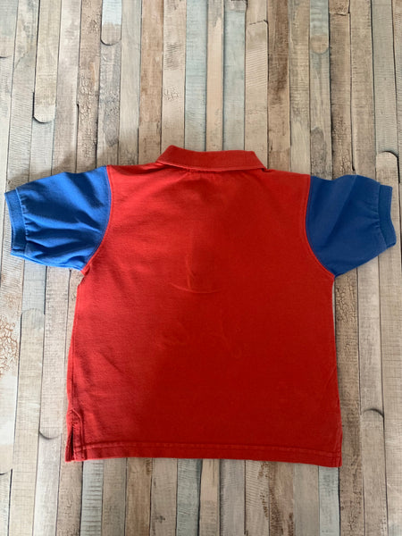 Joules Red/Blue Polo Shirt 3 Years - Nippers Preloved children's clothing
