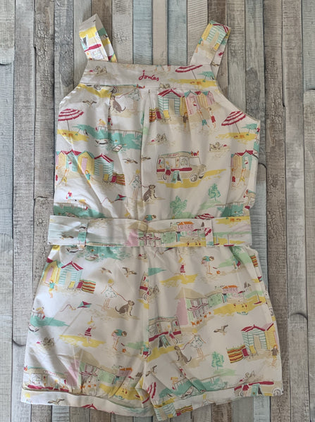 Joules Summer Print Playsuit Age 6 - Nippers Preloved children's clothing