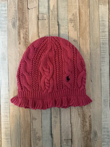 Ralph Lauren Pink Wool Hat One Size - Nippers Preloved children's clothing