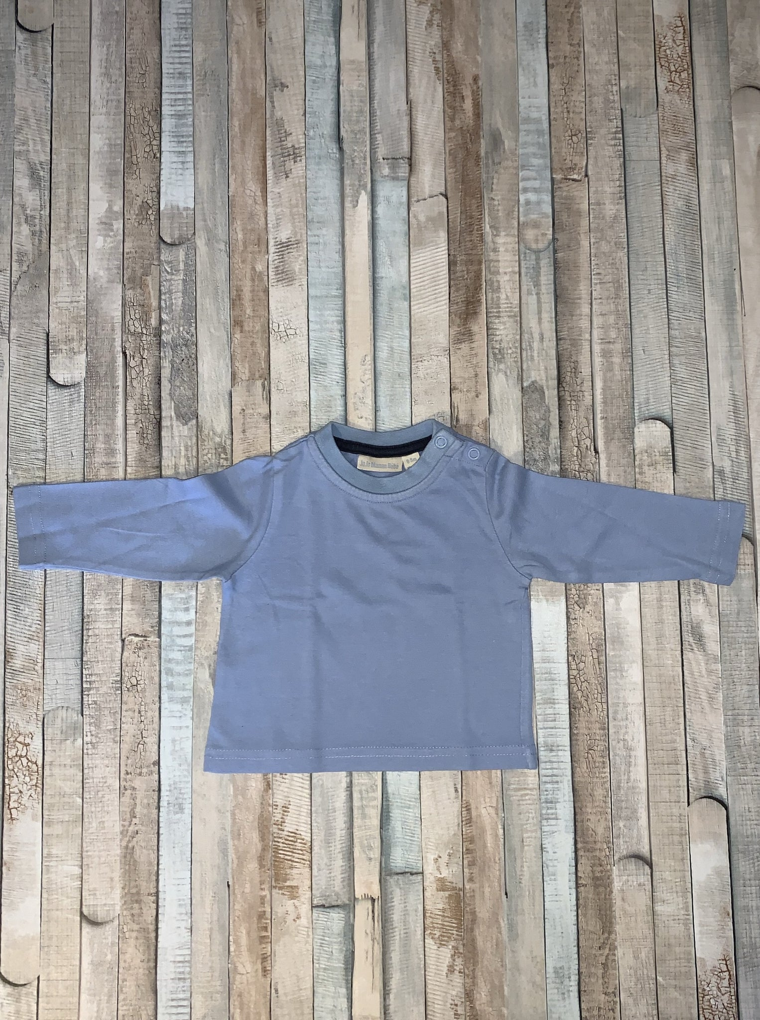 JoJo Maman Bébé blue long sleeve - Nippers Preloved children's clothing