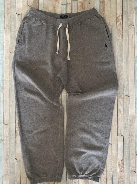 Polo Ralph Lauren Grey Jogging Bottoms L (14-16) - Nippers Preloved children's clothing