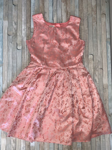 Monsoon Pink Bird Design Party Dress Age 12-13 Years - Nippers Preloved children's clothing